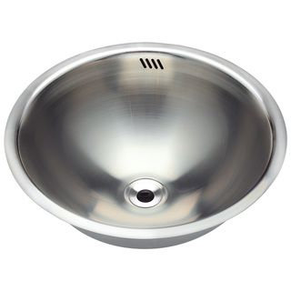 Polaris Sinks P024 Stainless Steel Bathroom Sink - Overstock™ Shopping - Great Deals on Polaris Sinks Bathroom Sinks