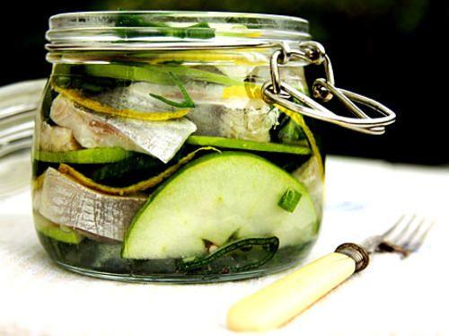 Flädersill med grönt äpple och citron