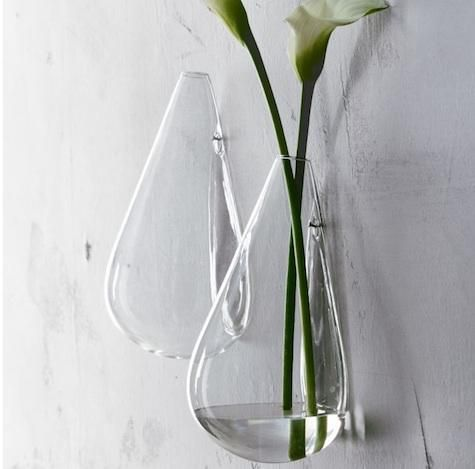 Glass Wall Vase by Sarah Winward