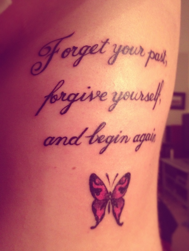 Nice quote tattoo with butterfly! | Tattoos | Pinterest