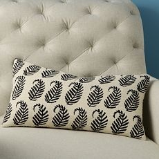 $34 hand blocked pillow cover, for the banquette?: Pillows Covers, Living Room Couch, Silk Pillows, Living Rooms, Paisley Pillows, Club Chairs, Pillow Covers, Throw Pillows, West Elm