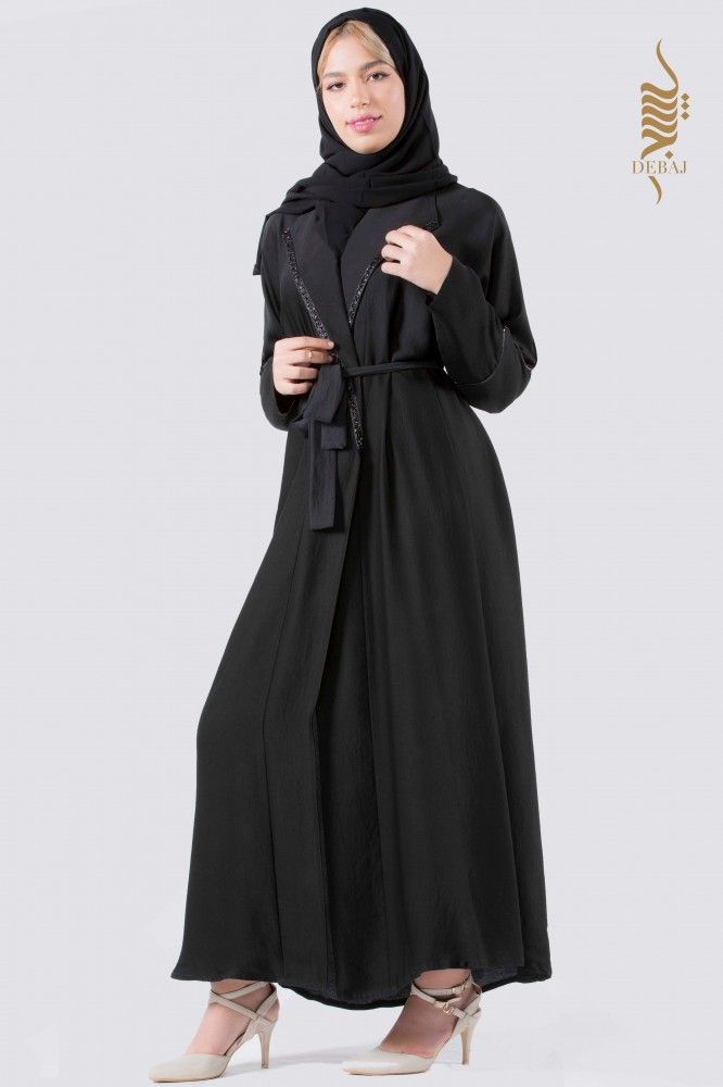 عباية حرير مغسول بياقة Fashion Womens Fashion Nun Dress