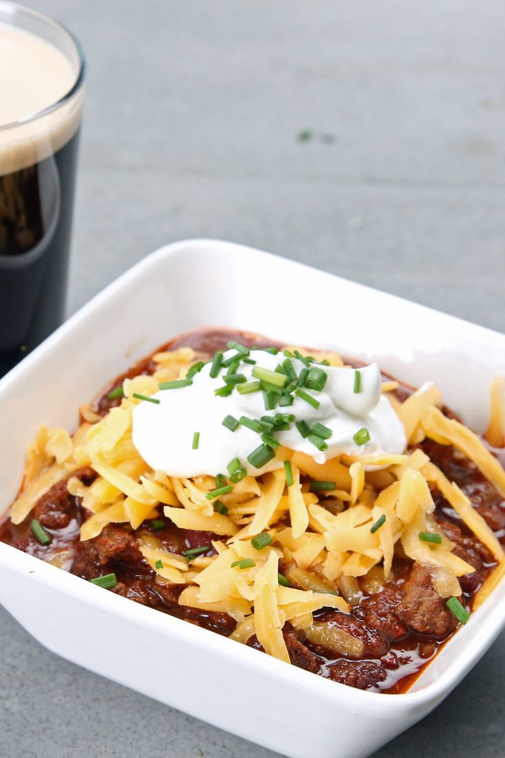 Easy Stout Beer Chili Perfect For Winter