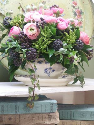 My French Country Home, French Living - Sharon Santoni #floral arrangement