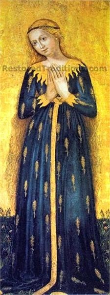 Madonna of the Wheat by Master of Sterzing (1450)