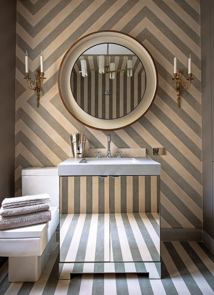 In The Guest Bathroom Of His Paris Apartment, Deniot Combined Strips Of  French Limestone And