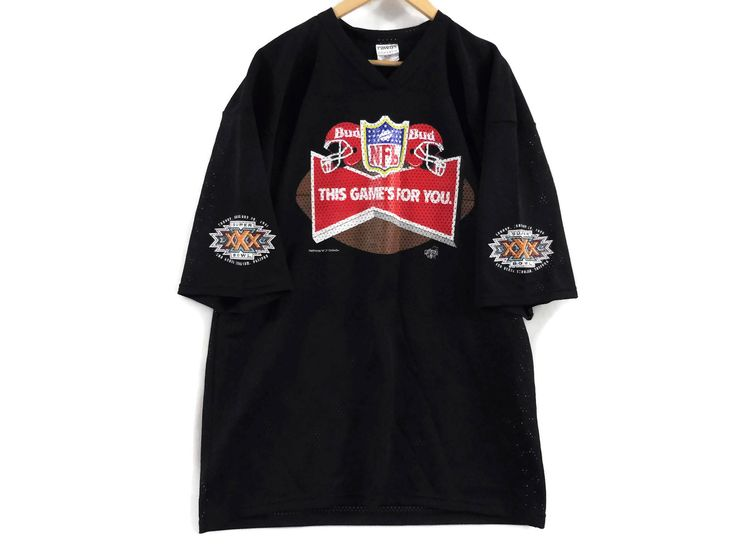 VTG 1995 Budweiser Football Jersey - XL - Superbowl 30 - NFL -  Mesh Jersey - Ravens Athletic Gear - Bud - Vintage Clothing - Free Shipping by BLACKMAGIKA on Etsy