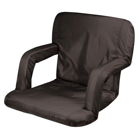 Picnic Time Ventura Portable Stadium Seats - Black (10.0 Lb)