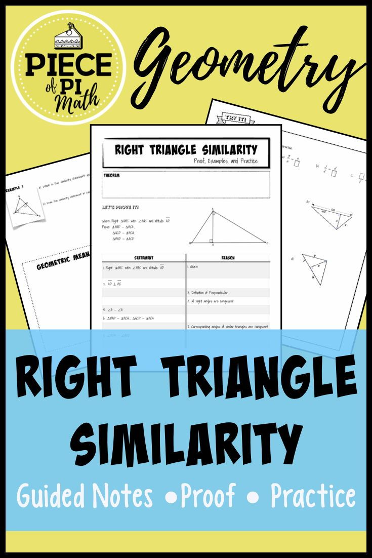 Geometry Students Will Solve Problems Using The Right Triangle Similarity Theorem This Resource Includes Proving T Right Triangle Theorems Geometric Mean