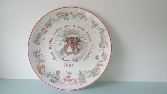 Vintage Beatrix potter Peter Rabbit plate by thevintagemagpie01