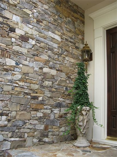A Colorful Stacked Stone Entryway By European Stone