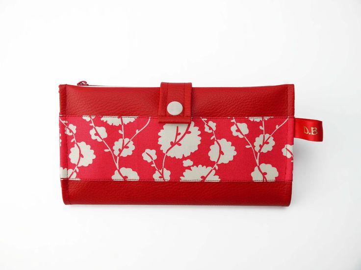 Portefeuille Porte-chéquier en simili-cuir rouge : Porte-monnaie, portefeuilles par d-balzan
