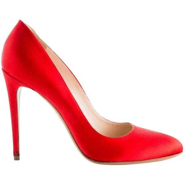 Pre-owned Prada Pumps (€250) ❤ liked on Polyvore featuring shoes, pumps, red, women shoes heels, red pumps, prada shoes, red shoes, pre owned shoes and prada pumps