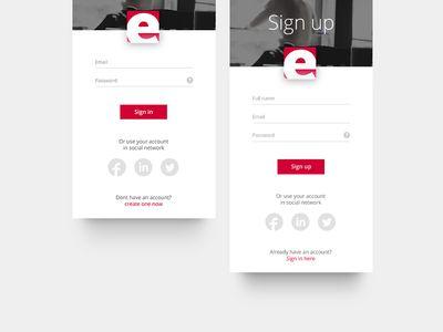 Enter Screens Evented app