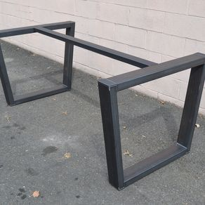 Industrial Style Steel Table Base by Jonathan Tinoco