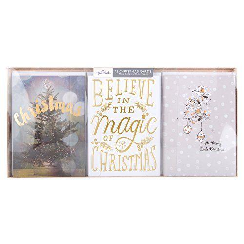 Hallmark Christmas Card Pack Believe in Magic - 12 Cards, 3 Designs No description (Barcode EAN = 5054655025098). http://www.comparestoreprices.co.uk/december-2016-3/hallmark-christmas-card-pack-believe-in-magic--12-cards-3-designs.asp