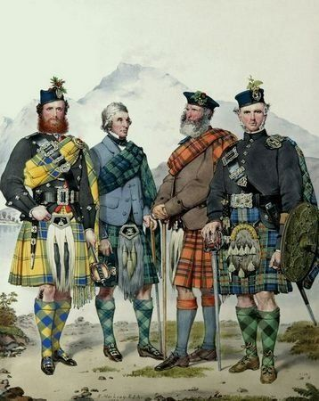 While plaids are certainly an ancient Scottish tradition,the idea of clans having their own tartan is surprisingly modern.  In 1829 John and Charles Allen, fraudsters who claimed to be descendants of Bonnie Prince Charlie, approached the Scottish antiquary Sir Thomas Dick Lauder saying they were in possession of a late 15th century manuscript known as the Vestiarium Scoticum, which detailed all the various identifying tartans of the Highland and lowland clans.