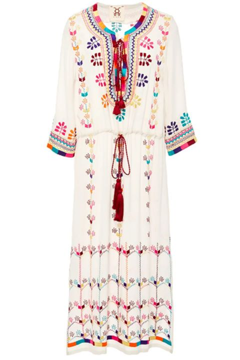 48 trendy summer dresses: Figue embroidered tunic dress with tassles