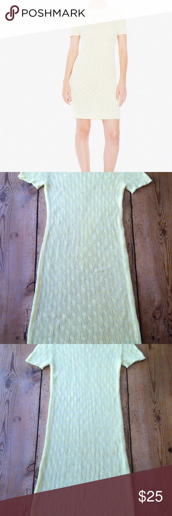 AMERICAN APPAREL Cable Knit Tennis Dress XS Very Cute. Comfy. Soft. Easy. American Apparel dress xs. Worn only a few times. LIKE NEW. No flaws, holes, tears, or stains. Great dress you can just slip into and go. Vintage feel. Pale Yellow. American Apparel Dresses Midi