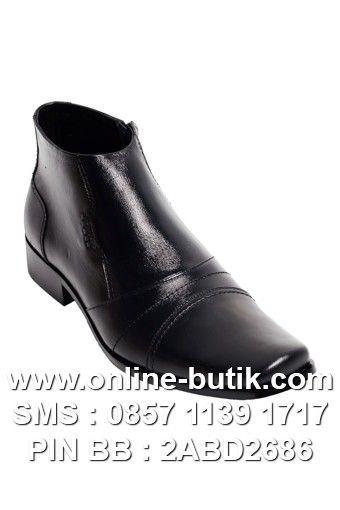 SEPATU EDBERTH ORIGINAL | Kode : ED BOOTS BUCKHORN BLACK | Rp. 400,000