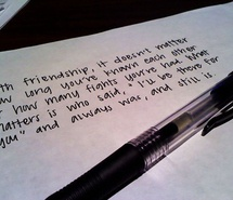 Inspiring picture friendship, paper, pen, quote, text, writing. Resolution: 500x374 px. Find the picture to your taste!