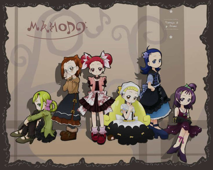 Tags: Fanart, Ojamajo DoReMi, Harukaze Doremi, Senoo Aiko, Fujiwara Hazuki, Segawa Onpu, Asuka Momoko, Makihatayama Hana, Kagiana
