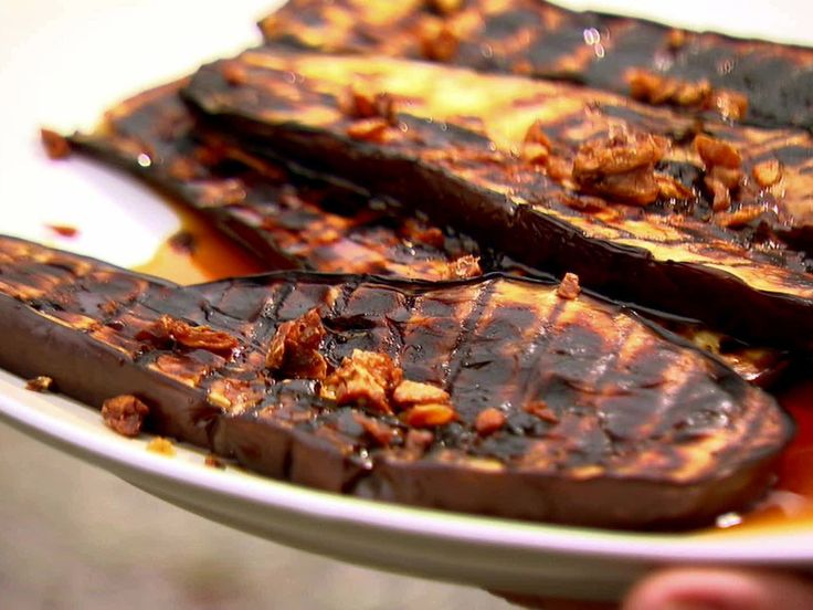 Grilled Eggplant with Sherry Vinegar Drizzle - Eli Zabar with Ina Garten / Barefoot Contessa