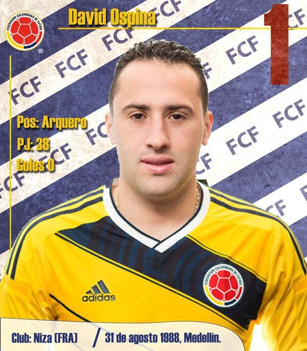 1961c7739 ... 93 best Colombian football images on Pinterest Soccer playe David Ospina  LA SELECCIÓN COLOMBIA Pinterest David adidas Colombia Home Replica Jersey  ...