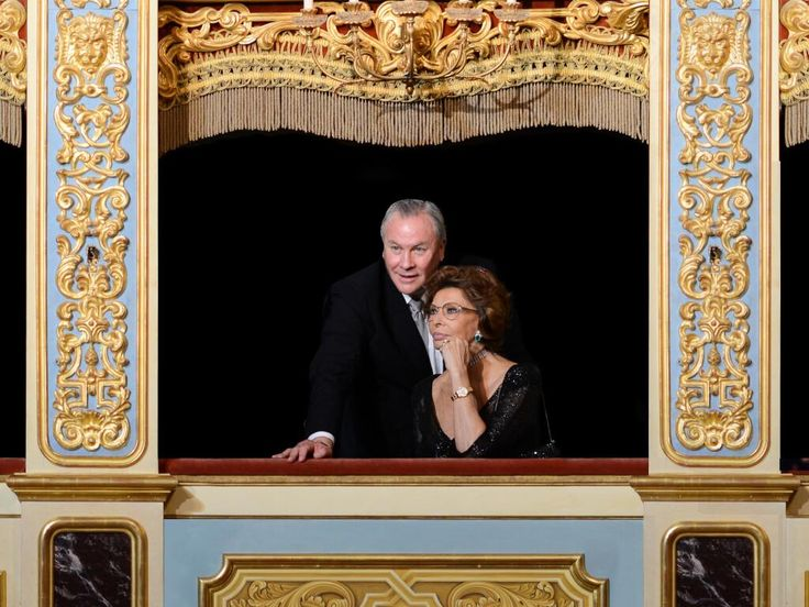 "Robert Wilson and Sophia Loren #Rolex ""Mentor & Protégé, Arts Iniziative"". Serata di gala (21 ottobre 2013) ©JulianMommert"