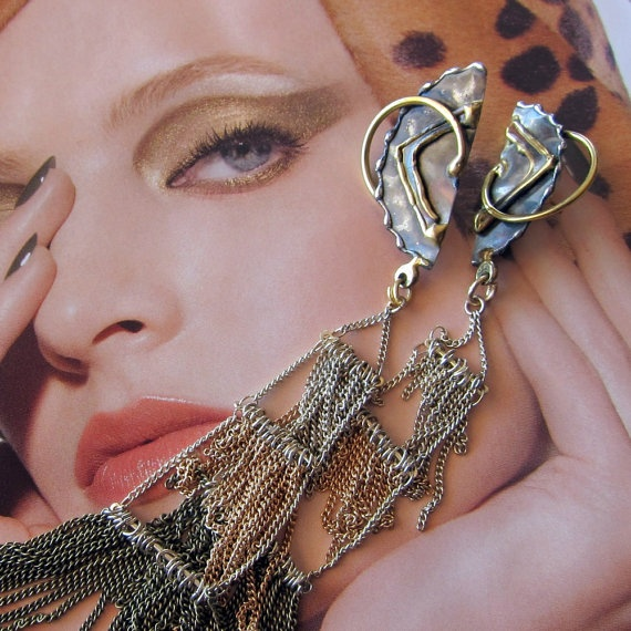 The Long and Winding chains by VickiDianeDesigns on Etsy, $24.00