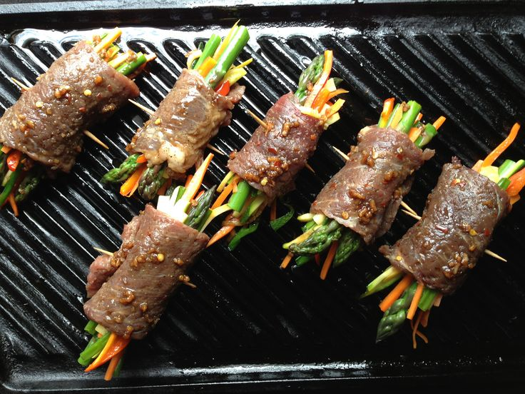 Korean steak roll-ups