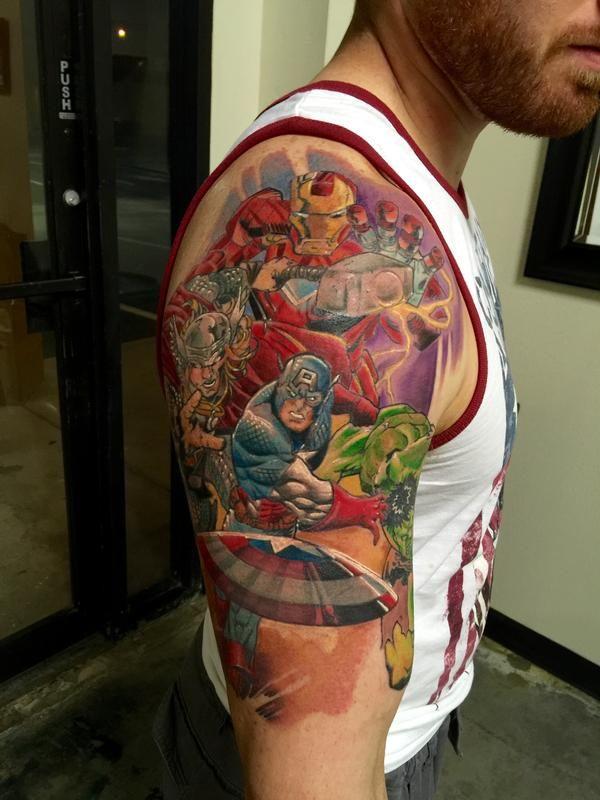Drew R. - Marvel Avengers Tattoo
