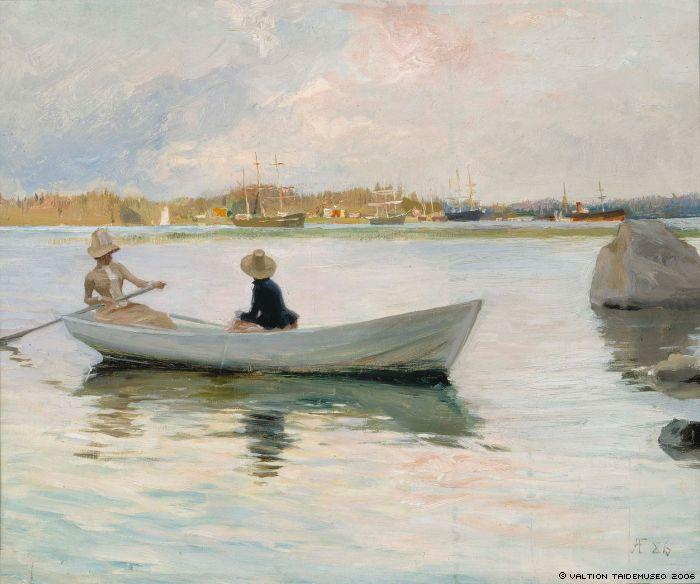 Edelfelt, Albert  Girls in a Rowing Boat, 1886