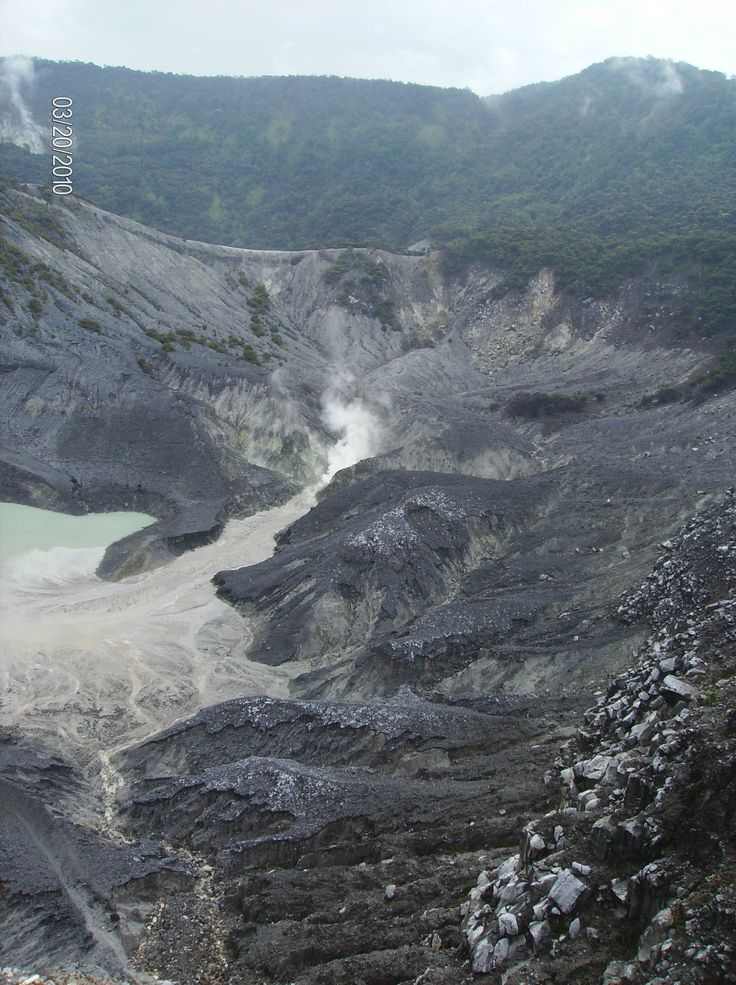 Bandung volcano - Tangkuban Perahu  Another Allah's creation that's amazing! The scenery and the weather was just perfect when we were there. SubhanAllah.