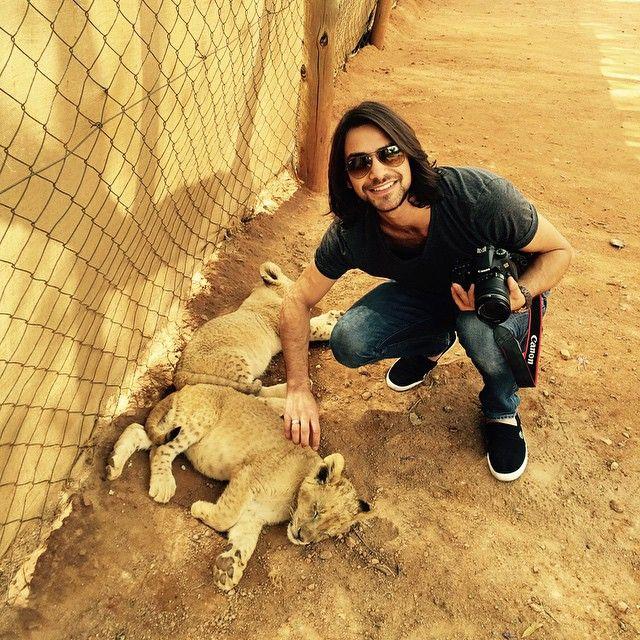 """Luke Pasqualino in South Africa for series I premier of The Musketeers. Source: Luke's Instagram """"South Africa Day 1!! #TheMusketeers"""""""