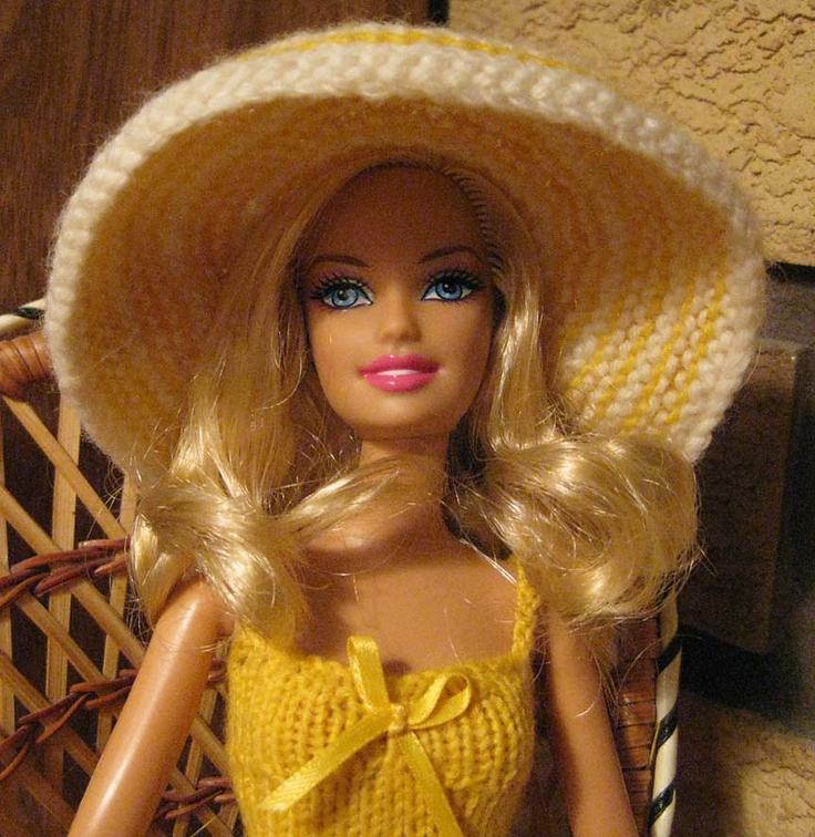 Lujoso Barbie Doll Knitting Patterns For Free Bosquejo - Manta de ...