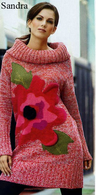 Платье-пуловер с цветком. Обсуждение на LiveInternet - Российский Сервис Онлайн-Дневников