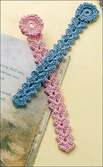 crochet bookmarks  Love this pattern!  made several of these and put pearl bead in middle of flower.  Also did just the flower part for fridgie magnents.