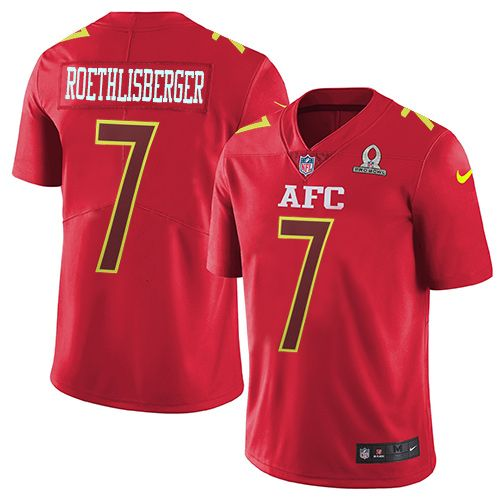 23a3e641 ... MINT FROM PACK Nike Pittsburgh Steelers Mens 7 Ben Roethlisberger  Limited Red 2017 Pro Bowl NFL Jersey Harry ...