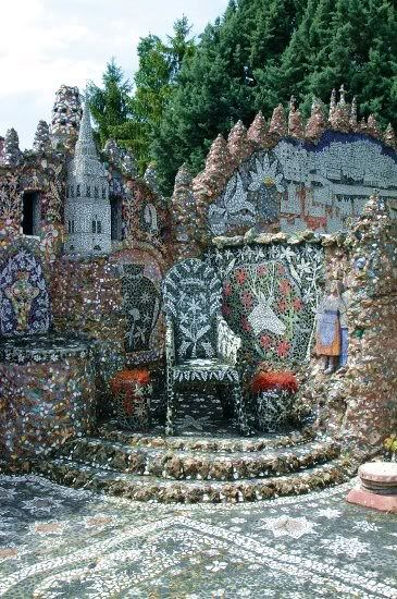 Raymond Isidore's Maison Picassiette in Chartres, France. A massive art environment made of over 4 million pieces of broken crockery.