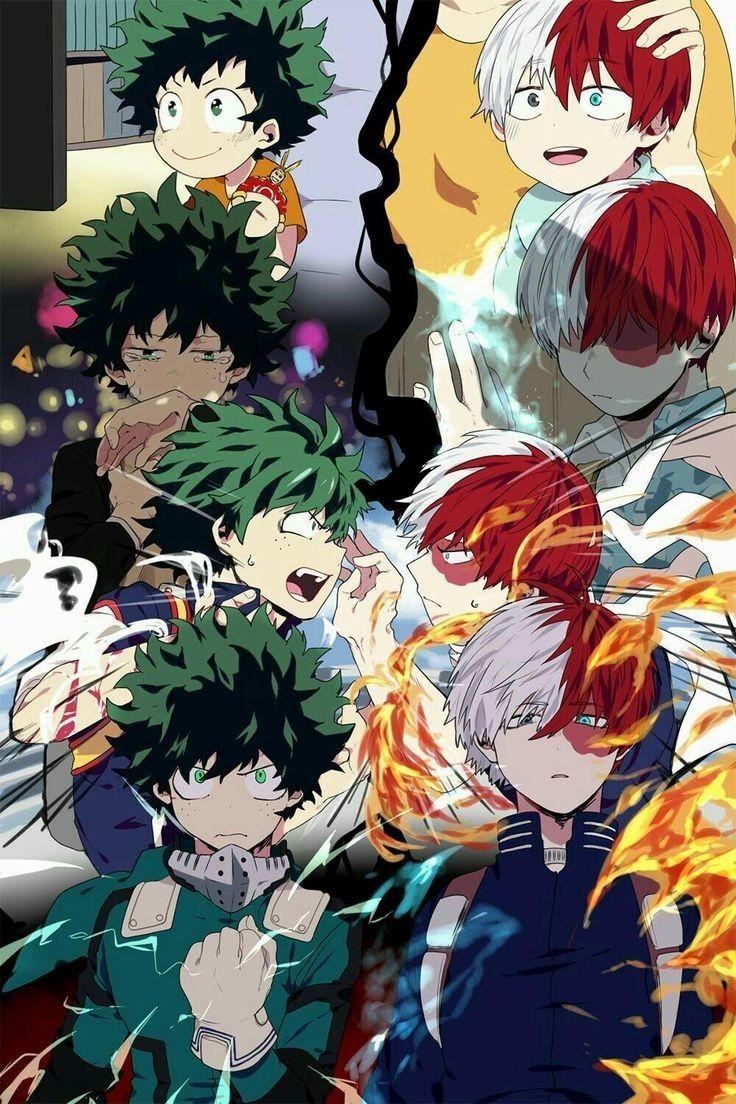 Todoroki Shouto Midoriya Izuku Com Certeza Irao Ser Grande Heros 3 Hero Wallpaper My Hero Academia Shouto Anime Wallpaper