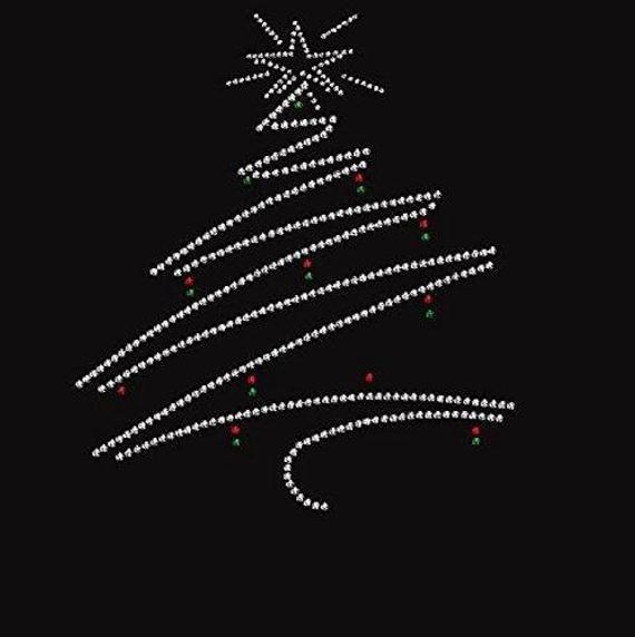 Bling Christmas Tree 2 Rhinestone Iron On T Shirt Design Etsy In 2020 Christmas Stockings Personalized Tshirt Designs Christmas