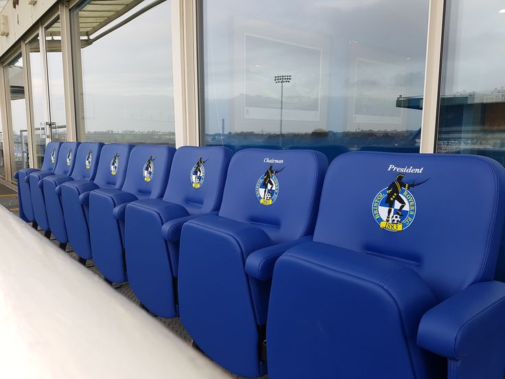 Luxury, personalised stadium seating at Bristol Rovers FC