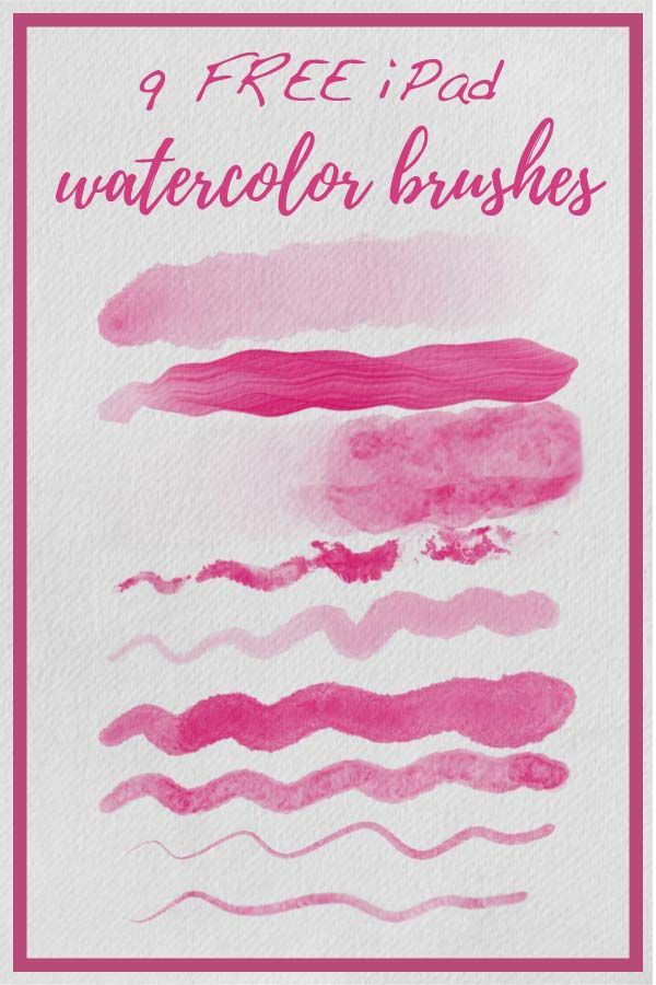 9 Free Ipad Watercolor Brushes For The App Procreate In This
