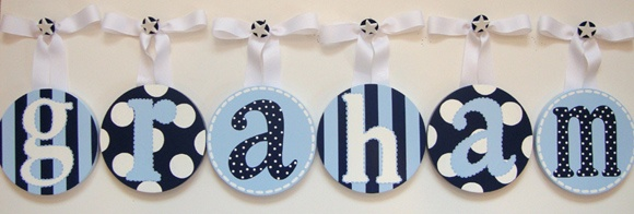 fun spin on traditional wall letters for kids