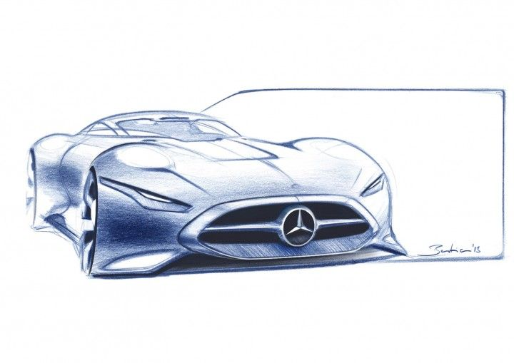 Mercedes-Benz AMG Gran Turismo Concept Design Sketch