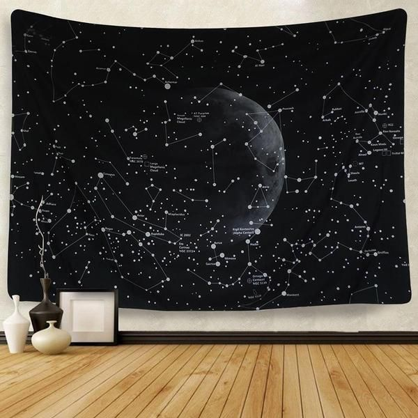 Cassiopeia Constellation Tapestry Wall Hanging Indian Wall Decor Wall Tapestry Boho Blanket On Wall