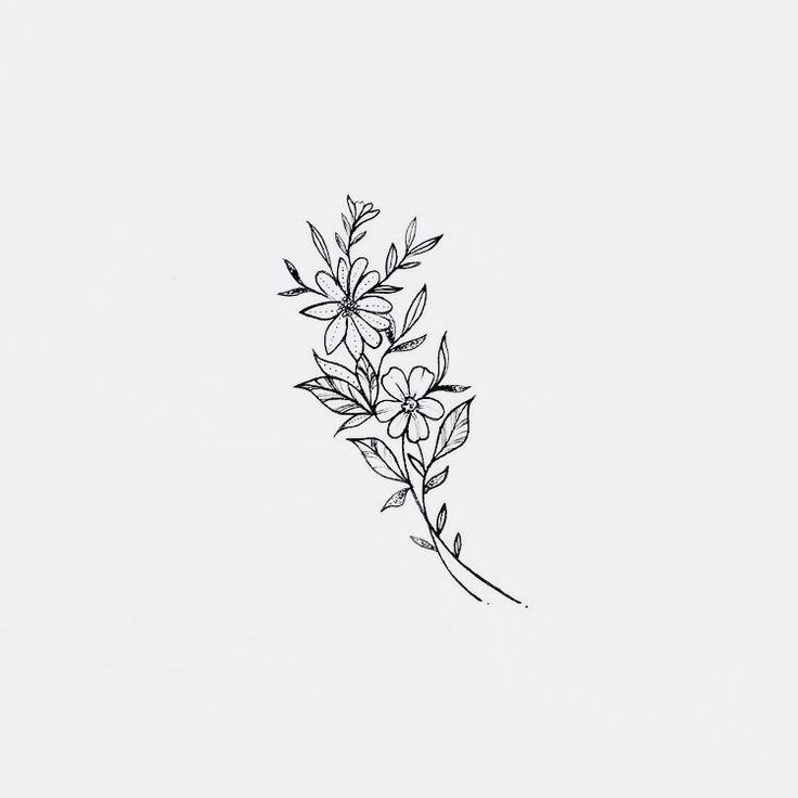 Floral Doodles (monoline) #doodle #floral #linedrawing