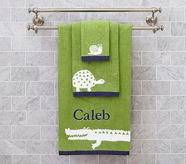 Alligator Jacquard Bath Towel Collection #pbkids