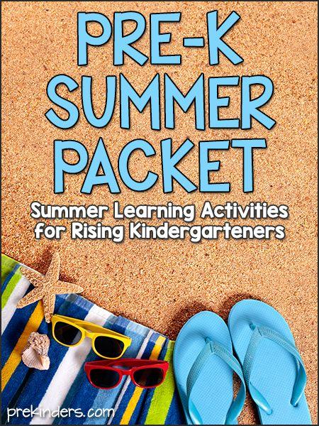 Pre-K Summer Packet (Preschool Kids Going to Kindergarten): free printable pack